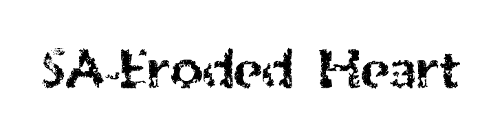 SA-Eroded Heart  Free Fonts Download