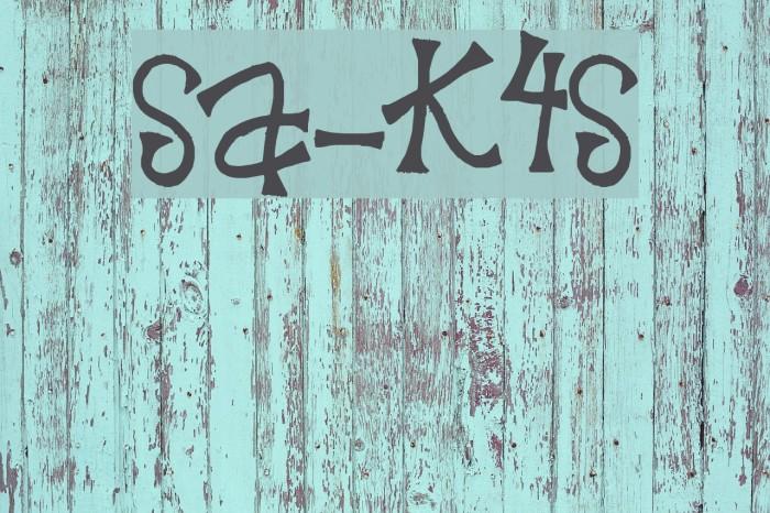 SA-Krazy4Scraps फ़ॉन्ट examples