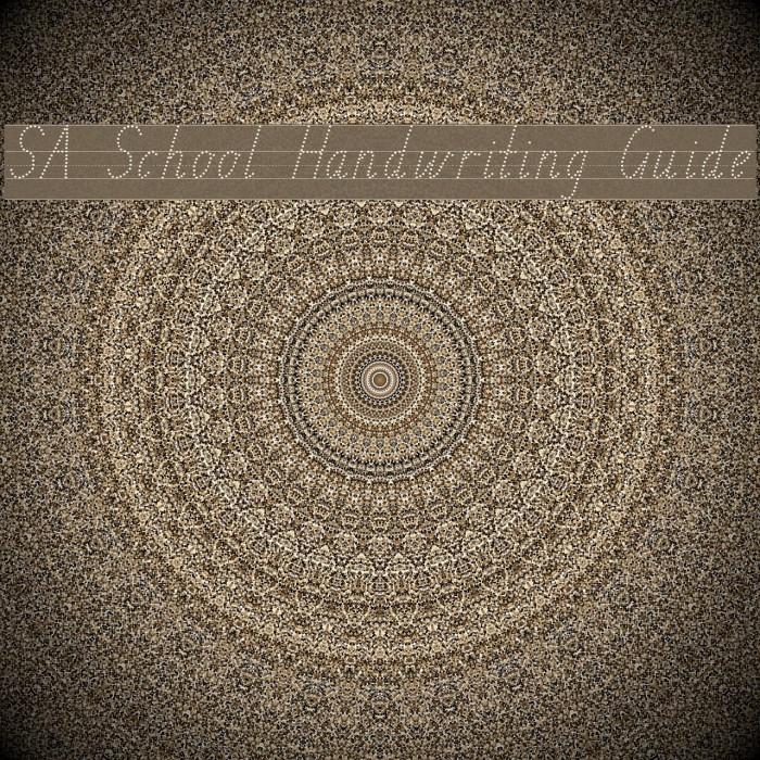 SA School Handwriting Guide फ़ॉन्ट examples