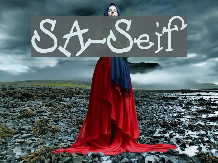 SA-Serif फ़ॉन्ट examples