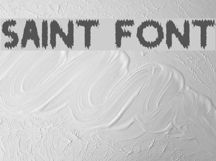 SAINT Font examples