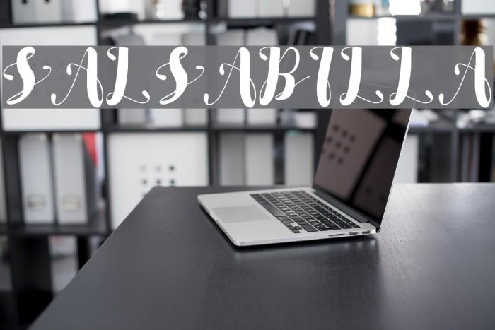 SALSABILLA Font examples