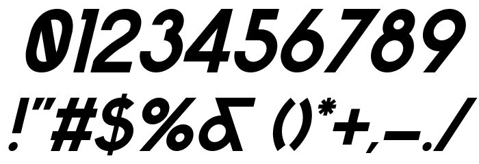 Sabado-Italic Font Alte caractere