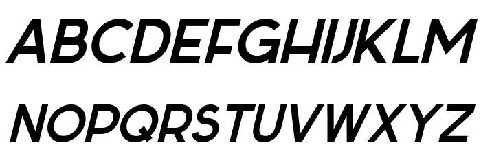 Sabado-Italic Font Litere mari