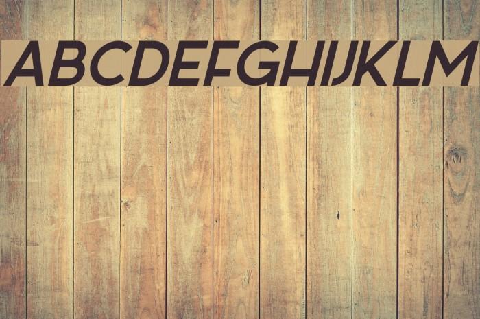 Sabado-Italic Font examples