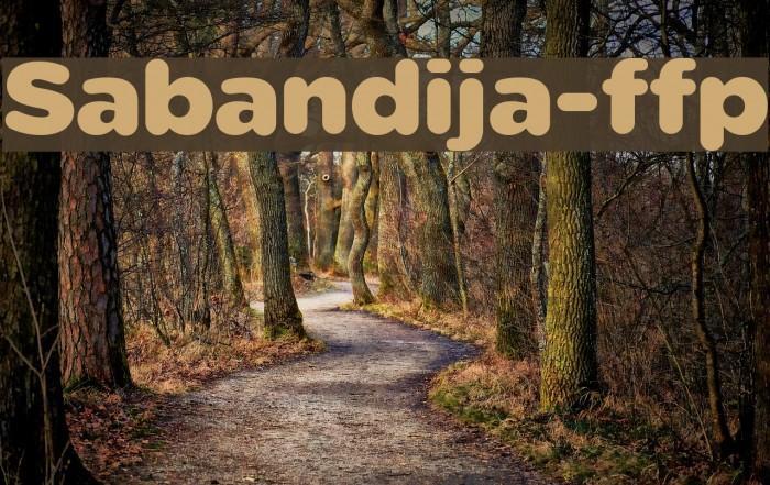 Sabandija-ffp Font examples