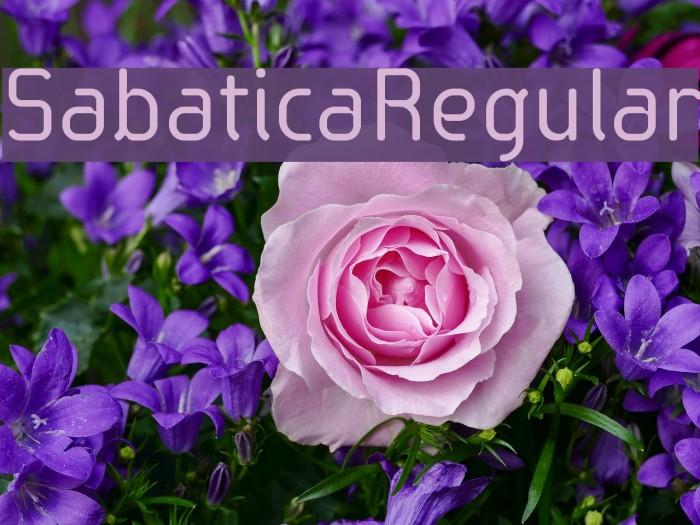 SabaticaRegular Font examples