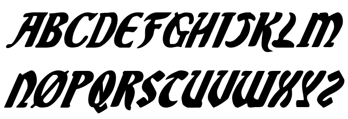 Sable Lion Italic Font Litere mari