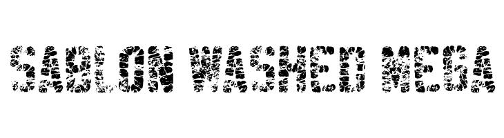 Sablon Washed Mega  नि: शुल्क फ़ॉन्ट्स डाउनलोड