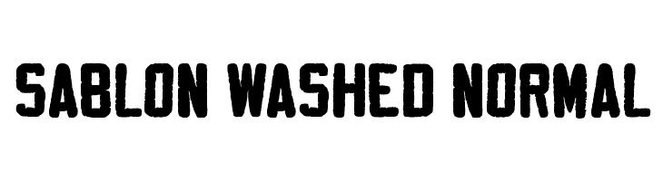 Sablon Washed Normal  Descarca Fonturi Gratis