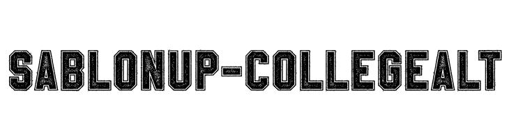 SablonUp-CollegeAlt  Скачать бесплатные шрифты
