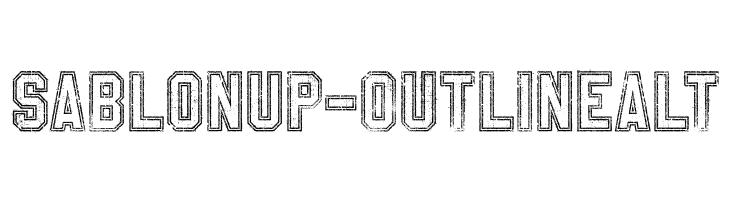 SablonUp-OutlineAlt  नि: शुल्क फ़ॉन्ट्स डाउनलोड