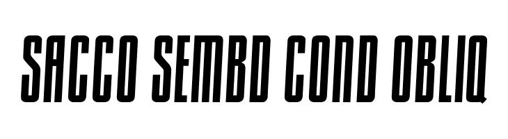 Sacco SemBd Cond Obliq  नि: शुल्क फ़ॉन्ट्स डाउनलोड