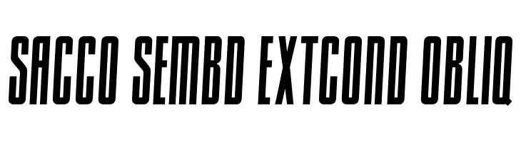 Sacco SemBd ExtCond Obliq  नि: शुल्क फ़ॉन्ट्स डाउनलोड