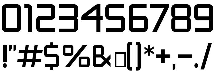Safety Шрифта ДРУГИЕ символов