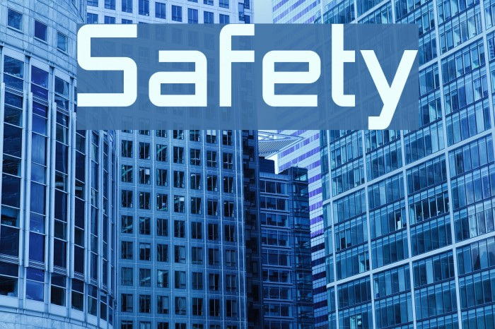 Safety Шрифта examples