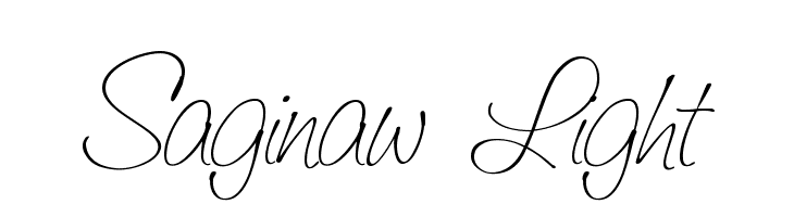 Saginaw  Light Font