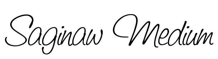 Saginaw  Medium  Free Fonts Download