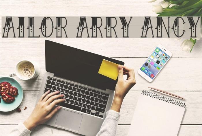 Sailor Larry Fancy Font examples