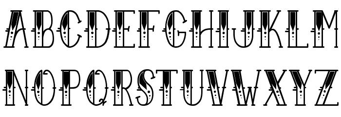Sailor Larry Fancy Font LOWERCASE