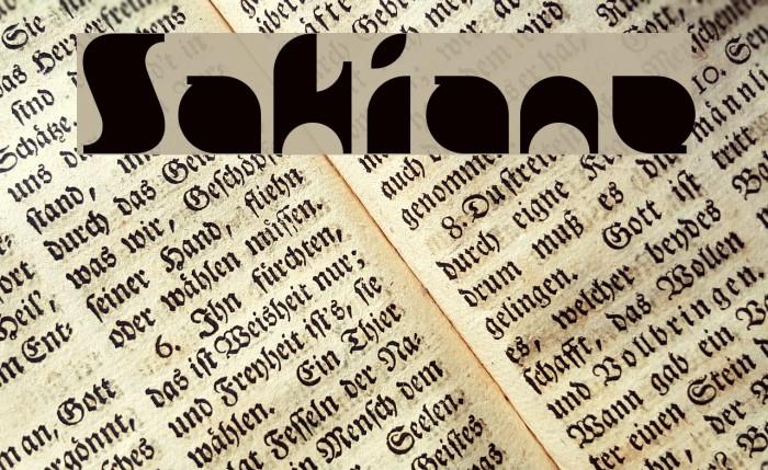 Sakiane Font examples
