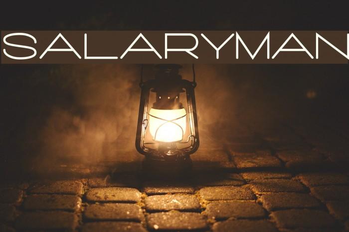 Salaryman फ़ॉन्ट examples
