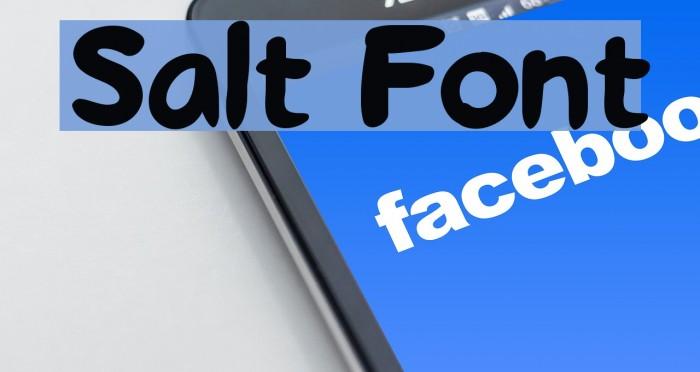Salt Font examples