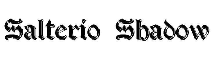 Salterio Shadow  Free Fonts Download
