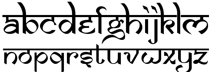 Samarkan Normal Font UPPERCASE