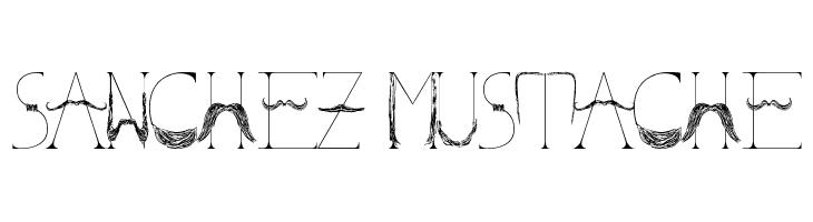 Sanchez Mustache  font caratteri gratis