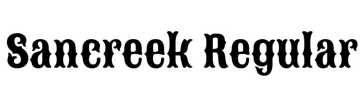 Sancreek Regular Font