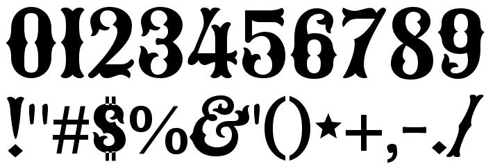Sancreek Regular Font OTHER CHARS