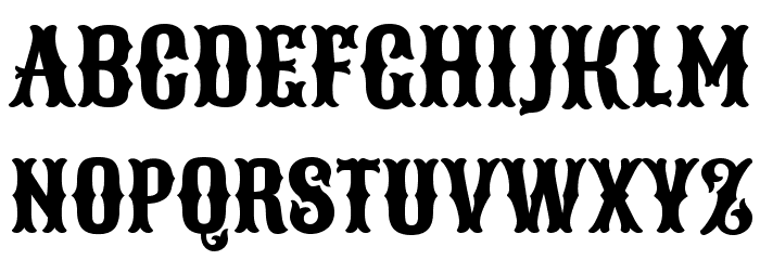 Sancreek Regular Font UPPERCASE