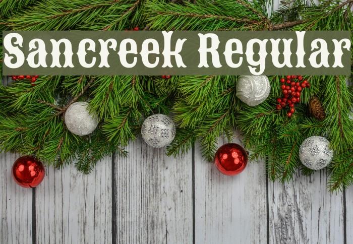 Sancreek Regular Font examples
