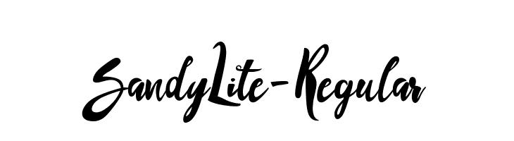 SandyLite-Regular  Скачать бесплатные шрифты