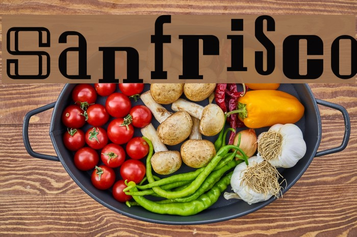 Sanfrisco Fonte examples