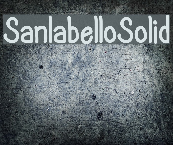 SanlabelloSolid Font examples