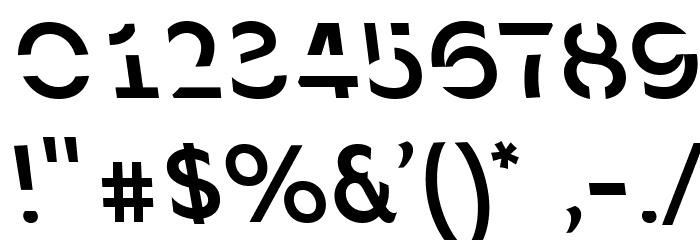 Sans Forgetica Regular フォント その他の文字