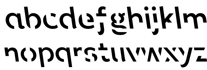 Sans Forgetica Regular Font LOWERCASE