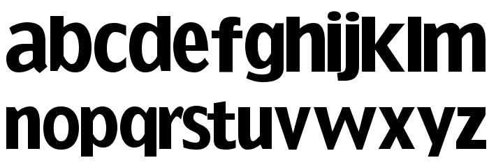 SansFat Font LOWERCASE