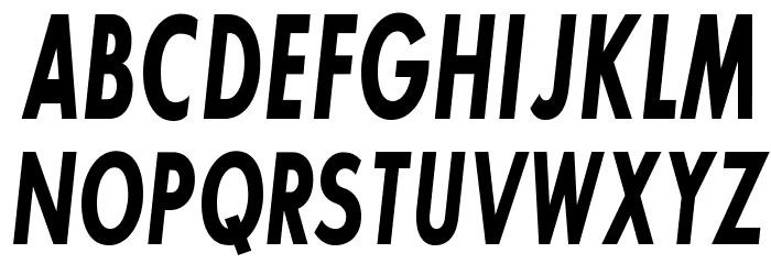 SansSerifBldFLFCond-Italic Fonte MAIÚSCULAS