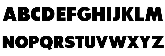 SansSerifExbFLF Font UPPERCASE
