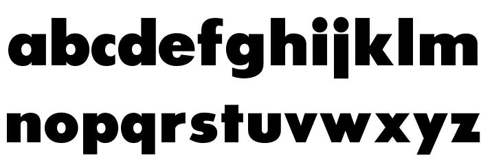 SansSerifExbFLF Font LOWERCASE