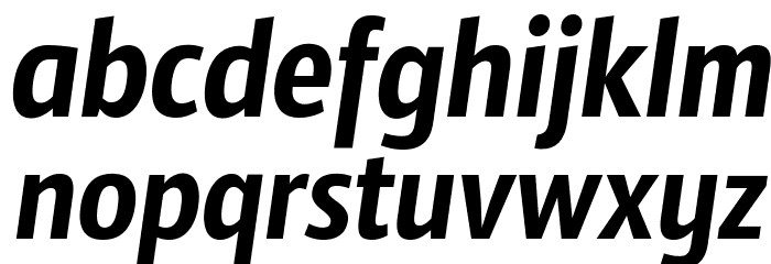 Sansus Webissimo Italic फ़ॉन्ट लोअरकेस