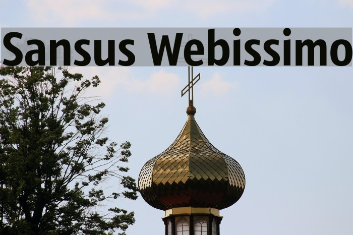 Sansus Webissimo Fonte examples