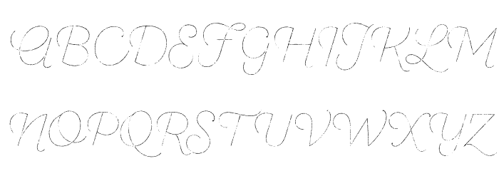 SantEliaRough-LineThr Font UPPERCASE