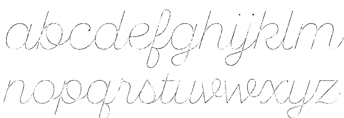 SantEliaRough-LineThr Font LOWERCASE