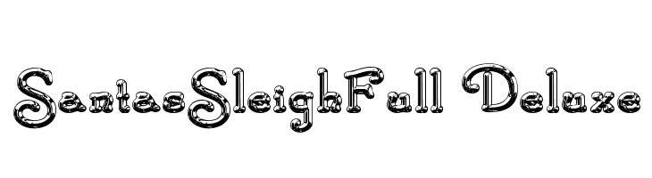 SantasSleighFull Deluxe  Free Fonts Download