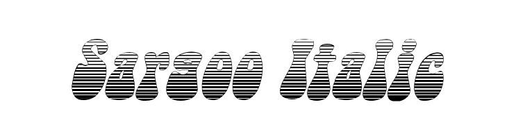 Sargoo Italic Fonte