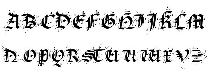 Satanas Humanum Salvator Font UPPERCASE